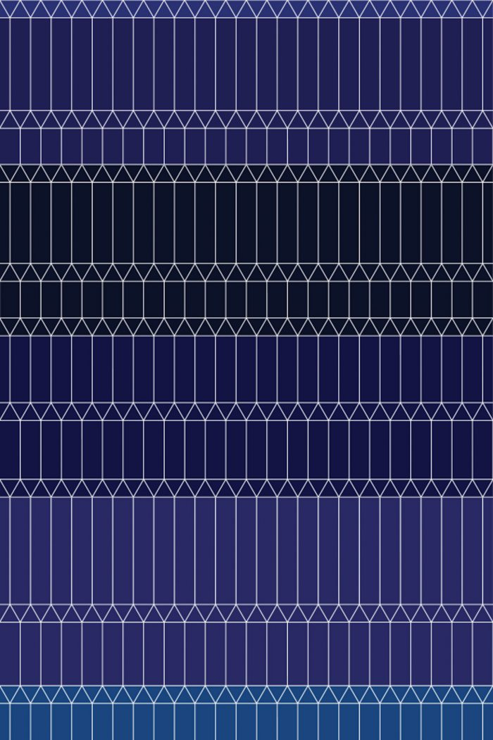 Zigzag Blue 2×3