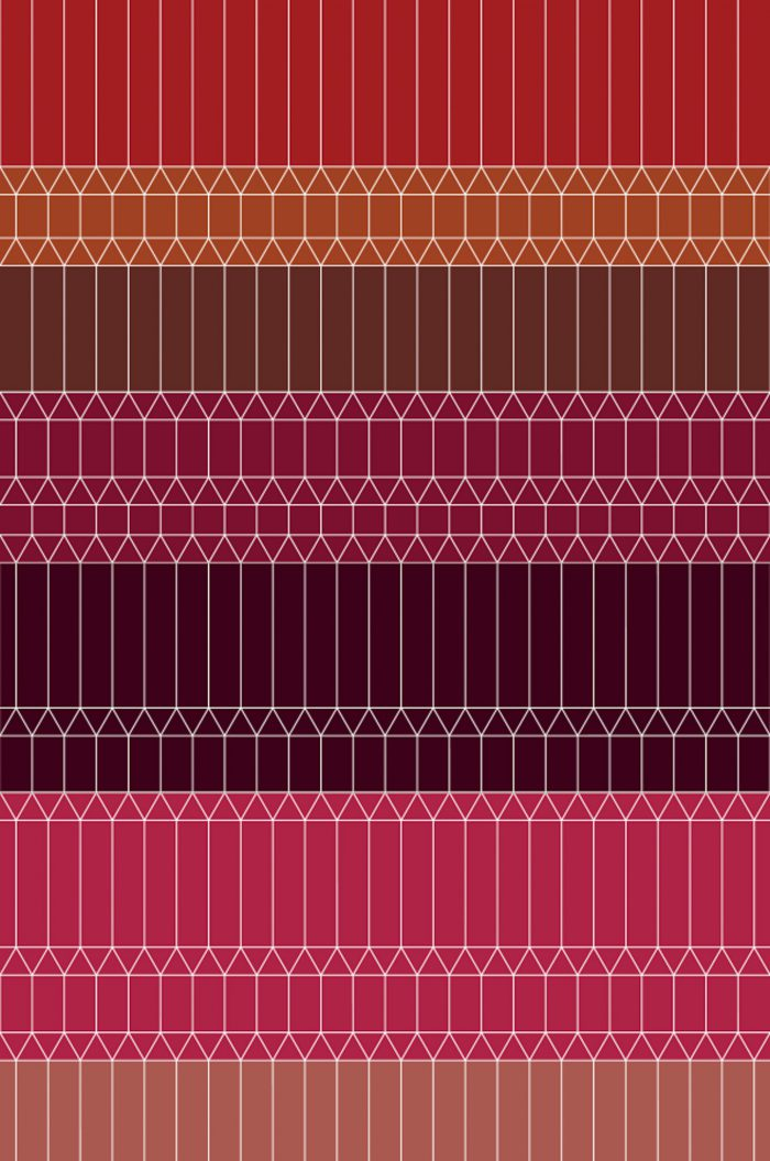 Zigzag Red 2×3