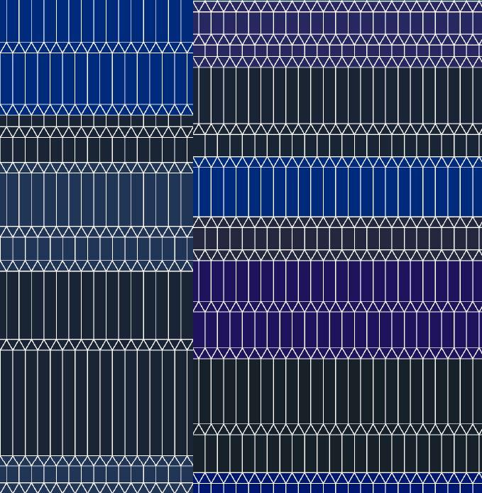 Zigzag blue broadloom