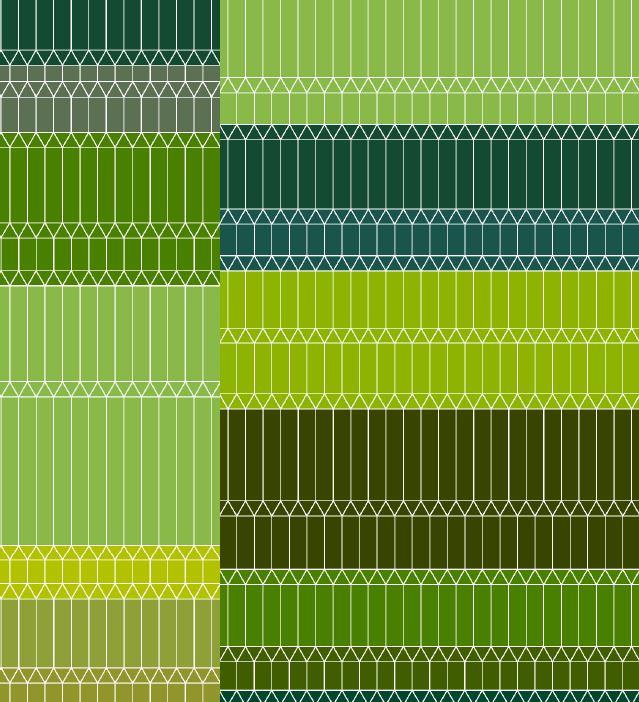Zigzag green broadloom