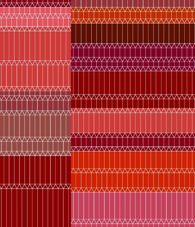 Zigzag red broadloom