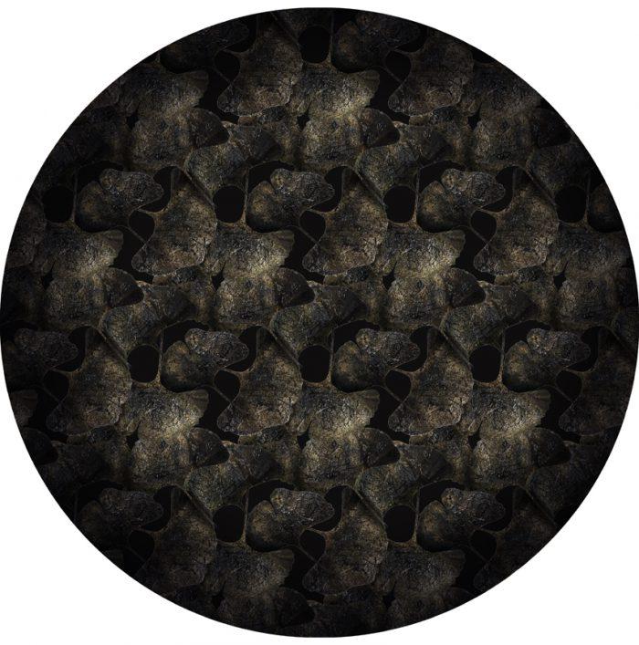 Ginko Leaf Black 250