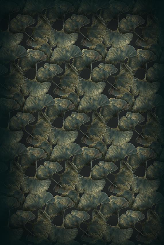 Ginko Leaf Green 200×300.