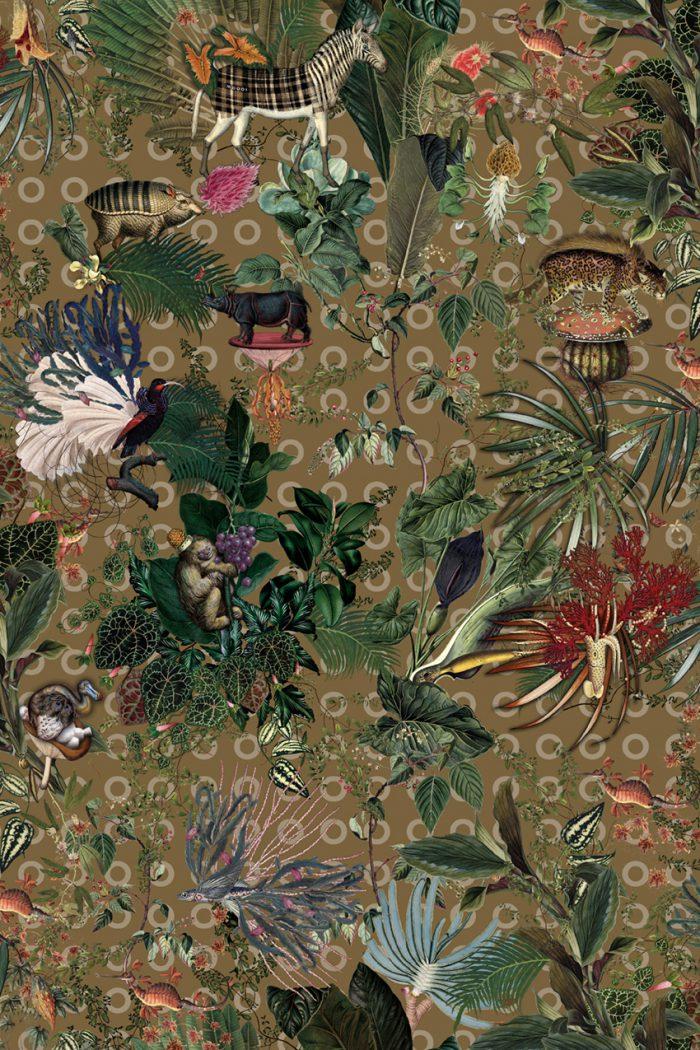 Menagerie of Extinct Animals – Curry 200 x 300 – M190001-F4-Rug130-C01-72dpi