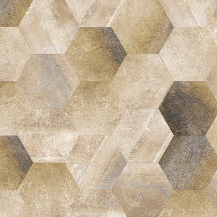 Hexagon Tiles Morning Nude