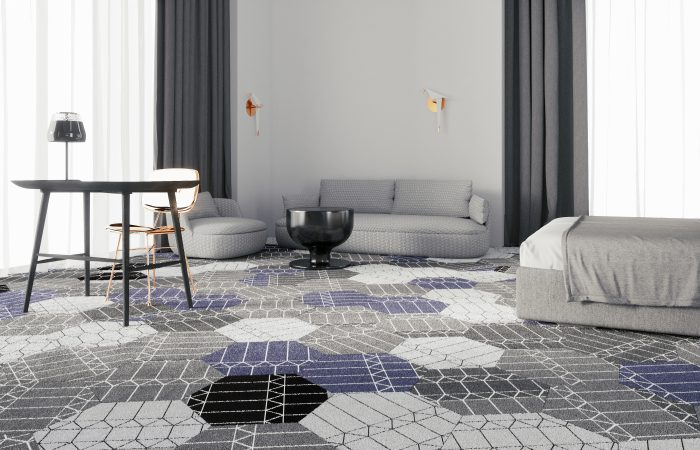 Moooi Carpets Zigzag Hexagon Tiles by Edward v Vliet