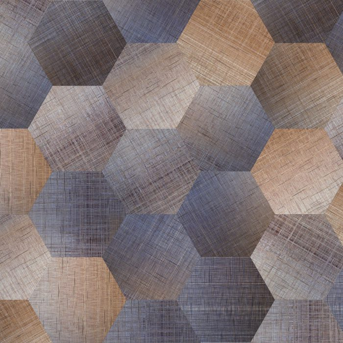 Tiles Canvas Demin Hexagon