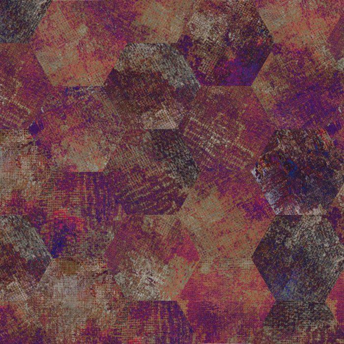 Tiles Erosion Rhodonite Hexagon