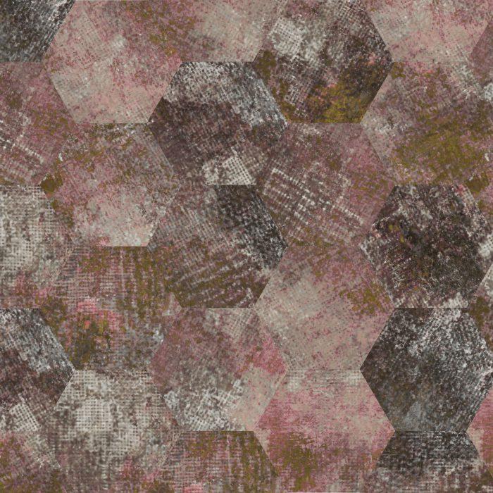 Tiles Erosion RoseGold Hexagon
