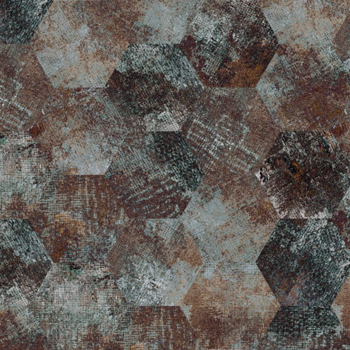 Tiles Erosion Rust Hexagon