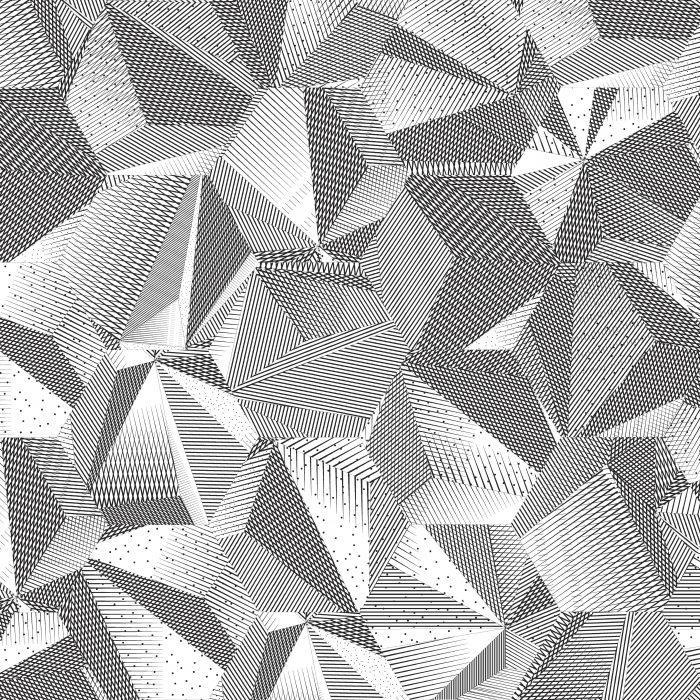 Tiles Ink Drawing Hexagon