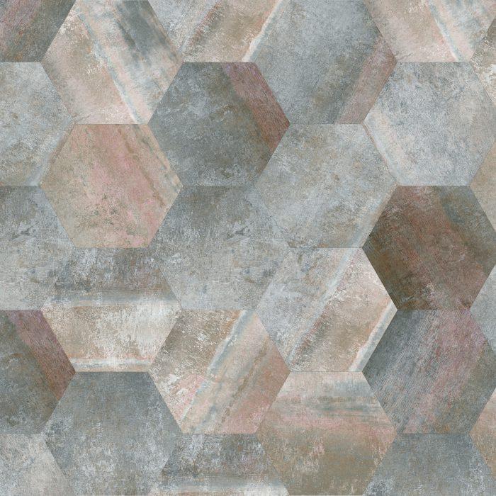 Tiles Morning Asphalt Hexagon