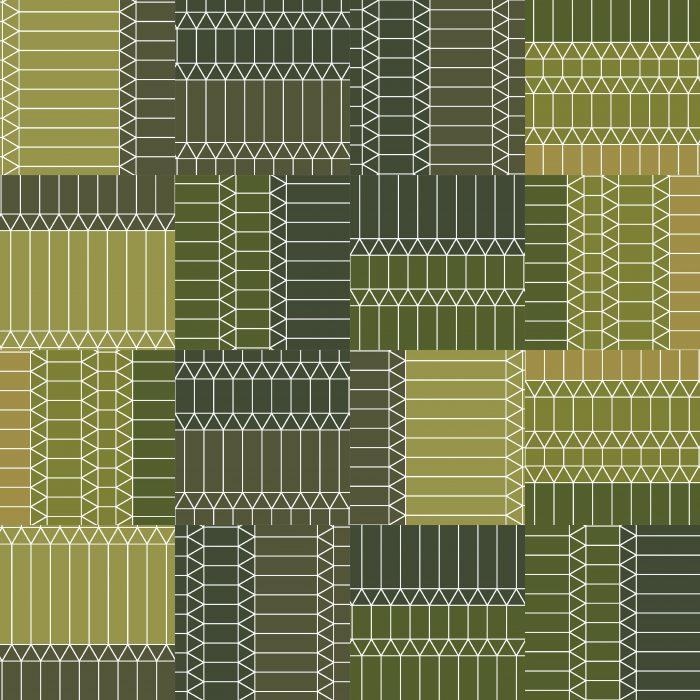 Tiles ZigZag Green