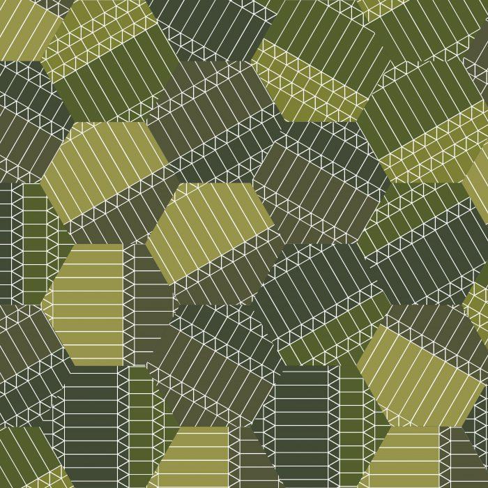 Tiles ZigZag Green Hexagon