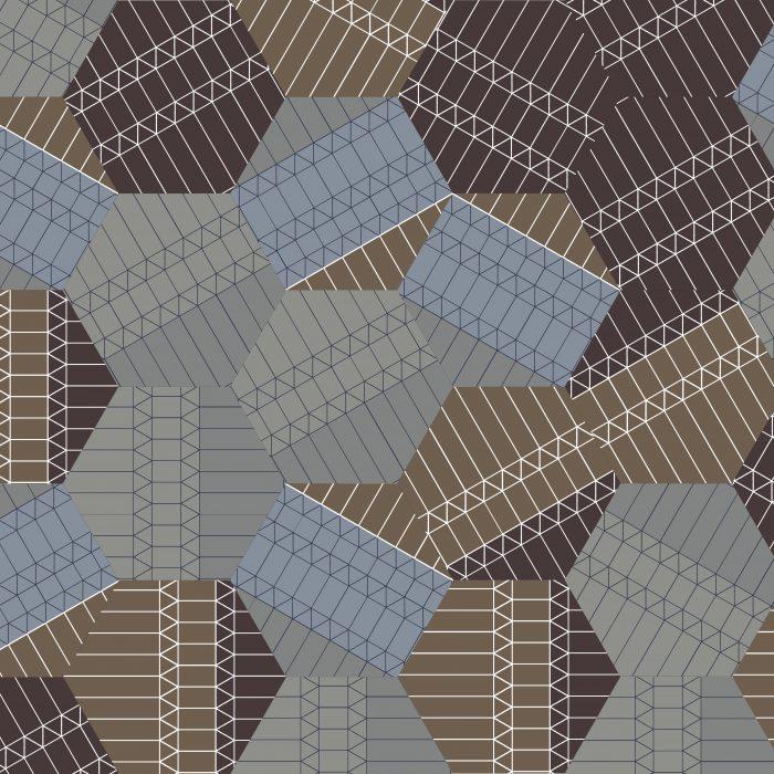 Tiles ZigZag Neutral Hexagon