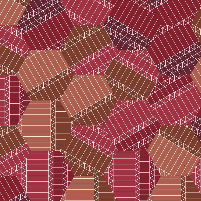Tiles ZigZag Red Hexagon
