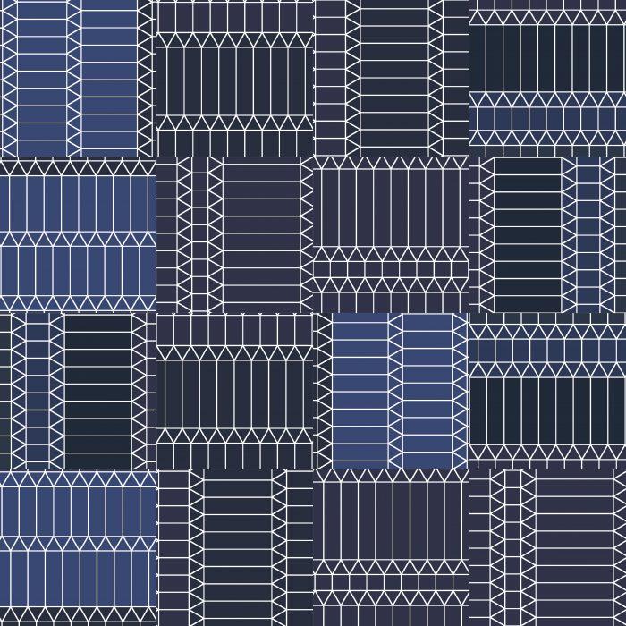 Tiles ZigZag Blue