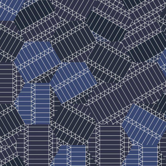 Tiles ZigZag Blue Hexagon